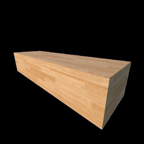 Стъпало от дърво с предно и странично чело